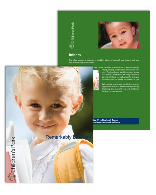 Children's Park Enrollment Folder and Insert