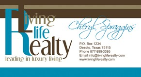 Living Life Realty Business Card